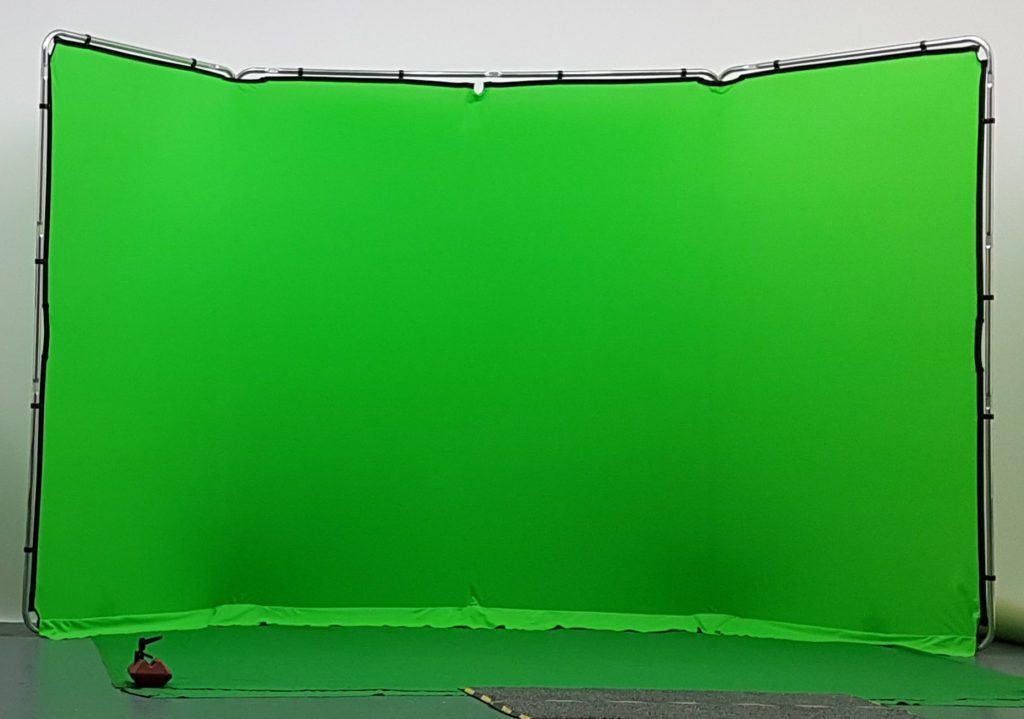 green screen stand at studio hire leeds
