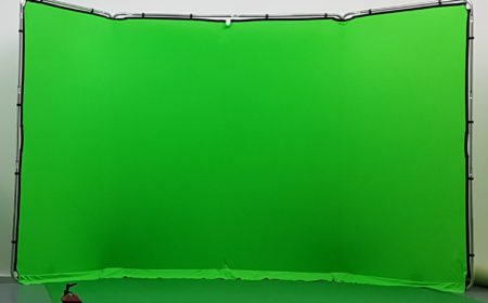 green screen stand at studio hire leeds