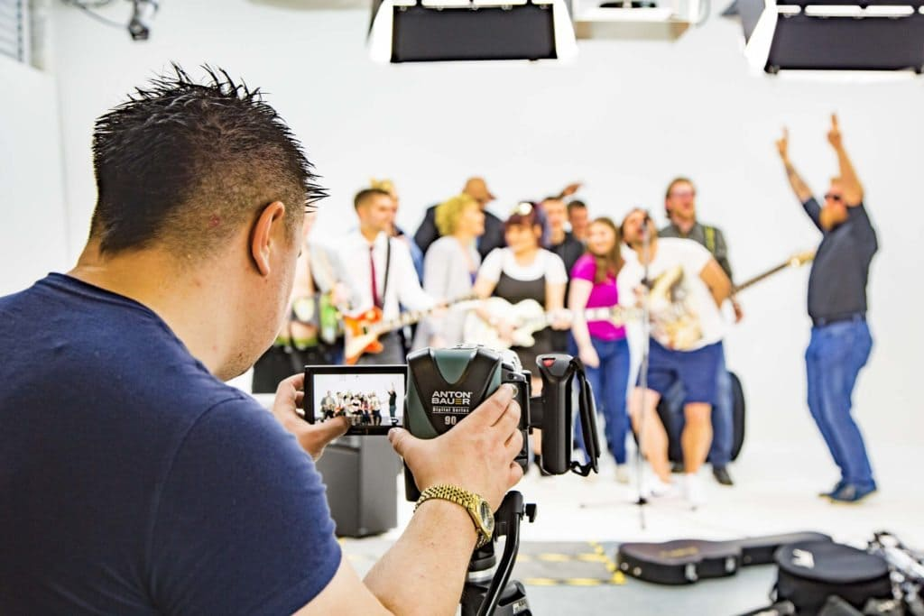studio hire leeds with the crew from Spinning Lane video shoot dancing