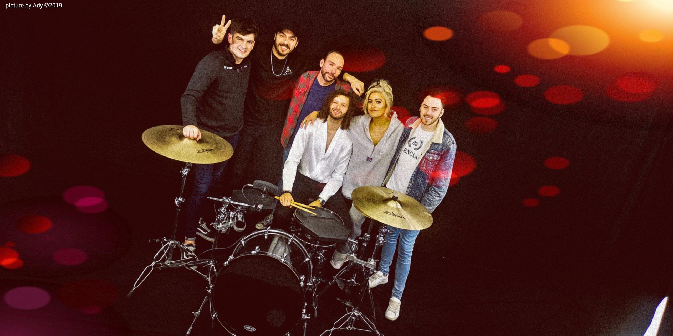 band members in big browndoors studio leeds