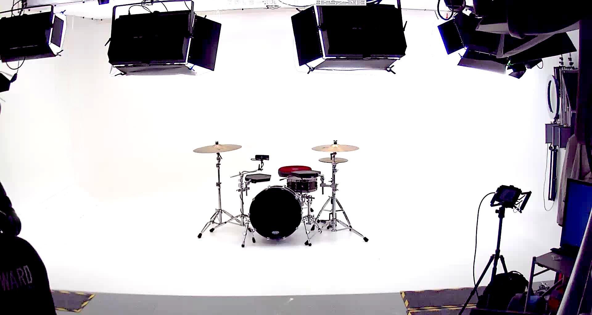 drum kit in big browndoors studio leeds
