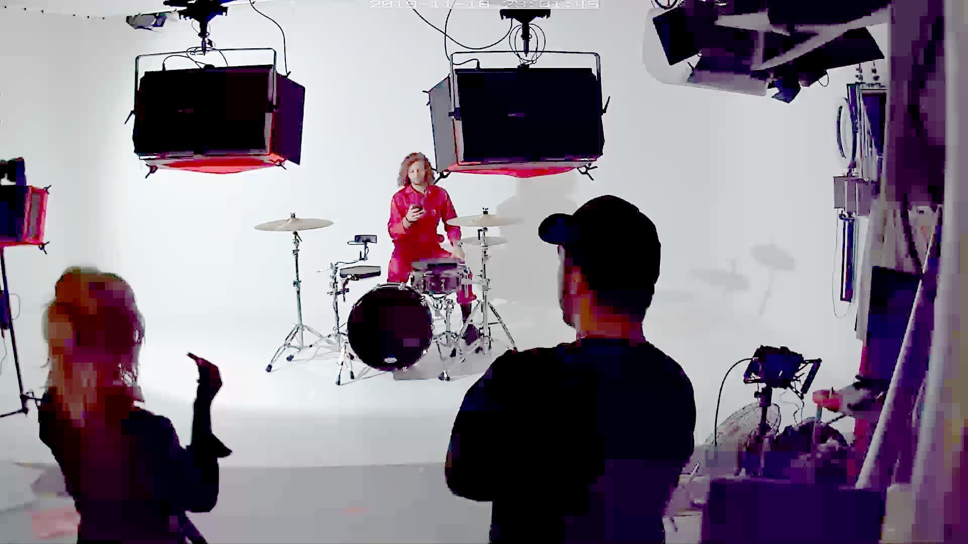 drummer in big browndoors studio leeds
