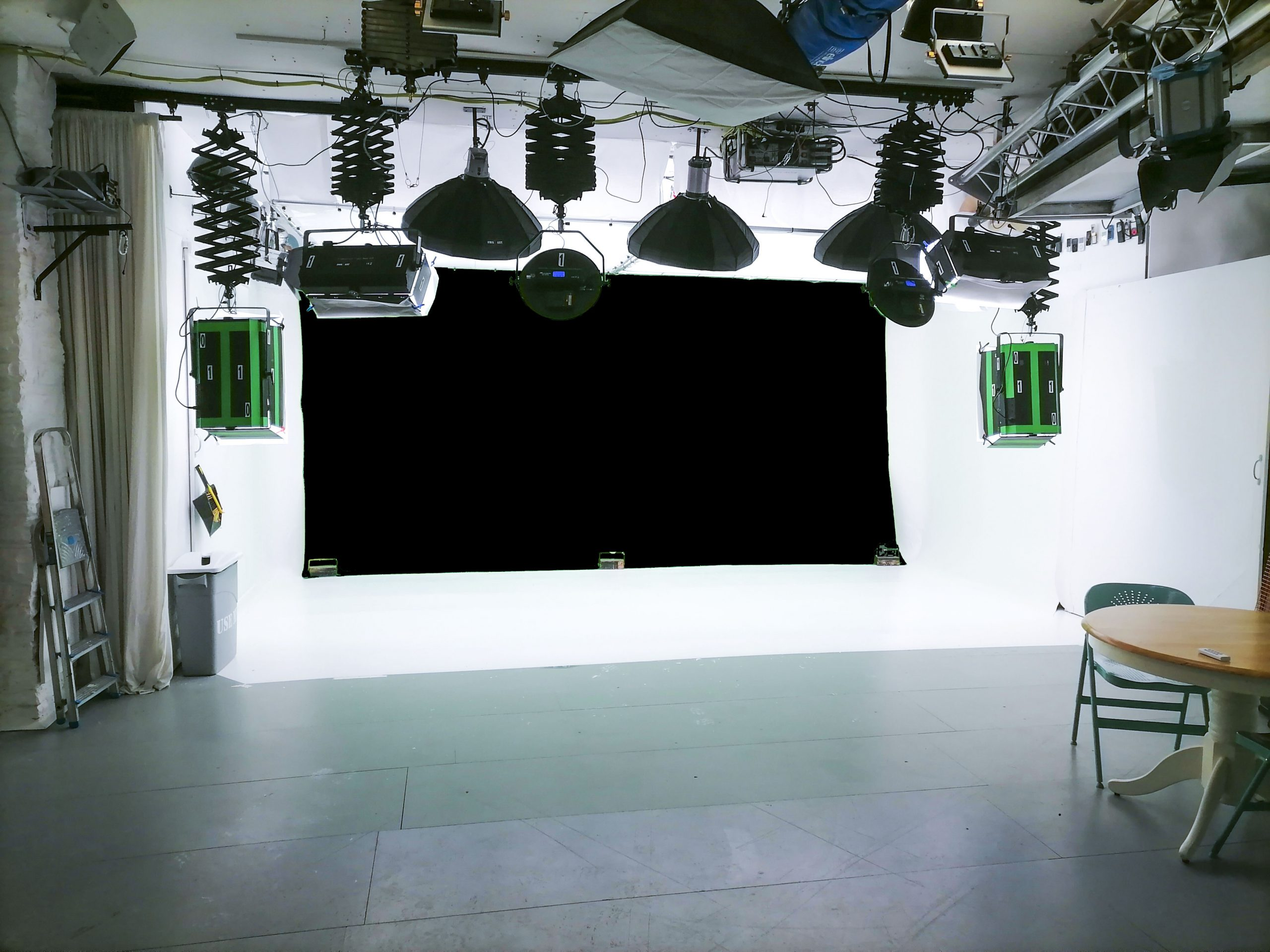 black screen wall for hire at BBS studio in Leeds