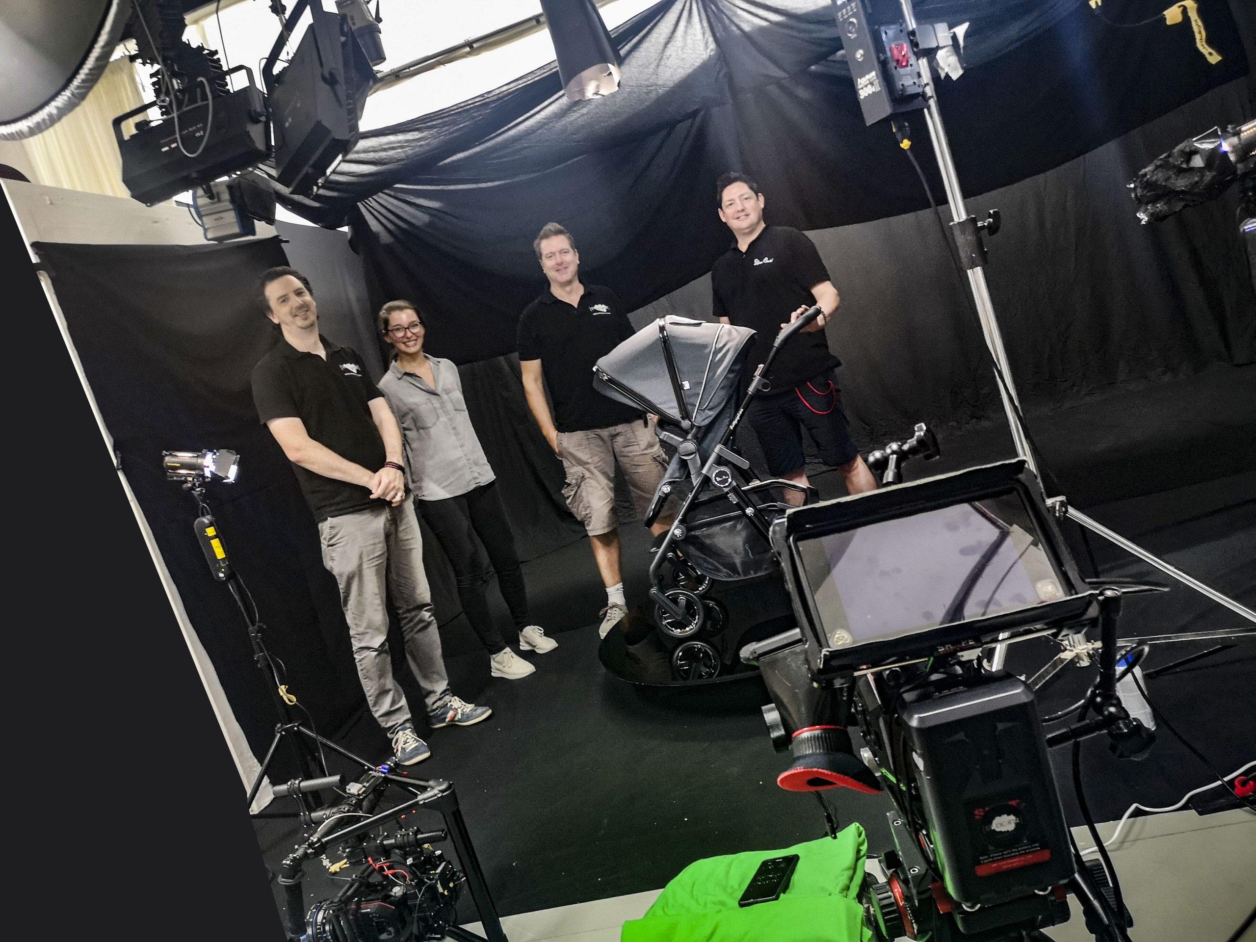 silver cross video shoot in BBD studio Leeds